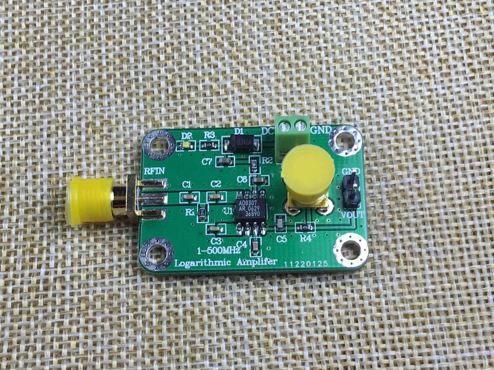 New AD8307 1MHz to 500MHz Wideband RF Detector RF Power Meter Strength Meter