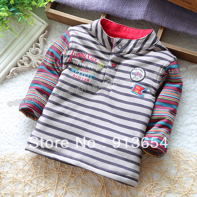 Free shipping Retail new 2013 spring autumn Baby sweatshirt kids clothes baby boy stripe t-shirts thin pullover top coat