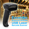 Excelvan usb 3.0 bluetooth barcode reader mobile payment handheld wireless usb laser bar code scanner for Computer/ Android/ IOS