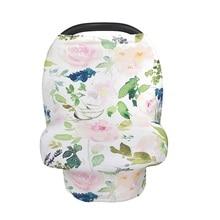 Чехол для детского автокресла с изображением ананаса и цветов, чехол для кормления, Многофункциональный эластичный шарф для кормления грудью