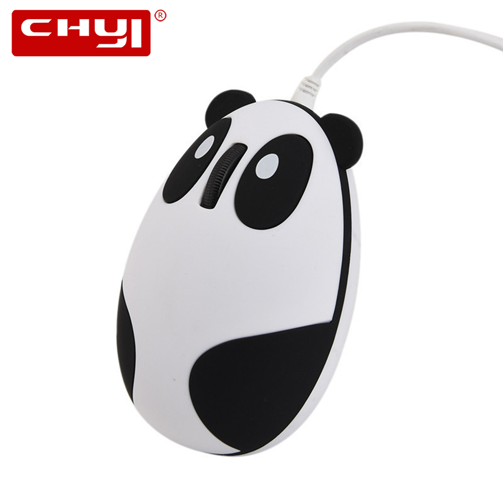 CHYI Wired Panda Mouse Ergonomic 1600 DPI USB Cable Kawaii Anime KungFu Panda Bear Cat Optical Game Mice For PC Laptop Desktop ...