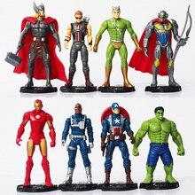 8pcs set The Age of Ultron Iron Man Ultron Nick Fury Hulk Captain America Action Figure