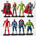 8pcs/set The Avengers Age of Ultron Iron Man Ultron Nick Fury Hulk Captain America Action Figure Toys