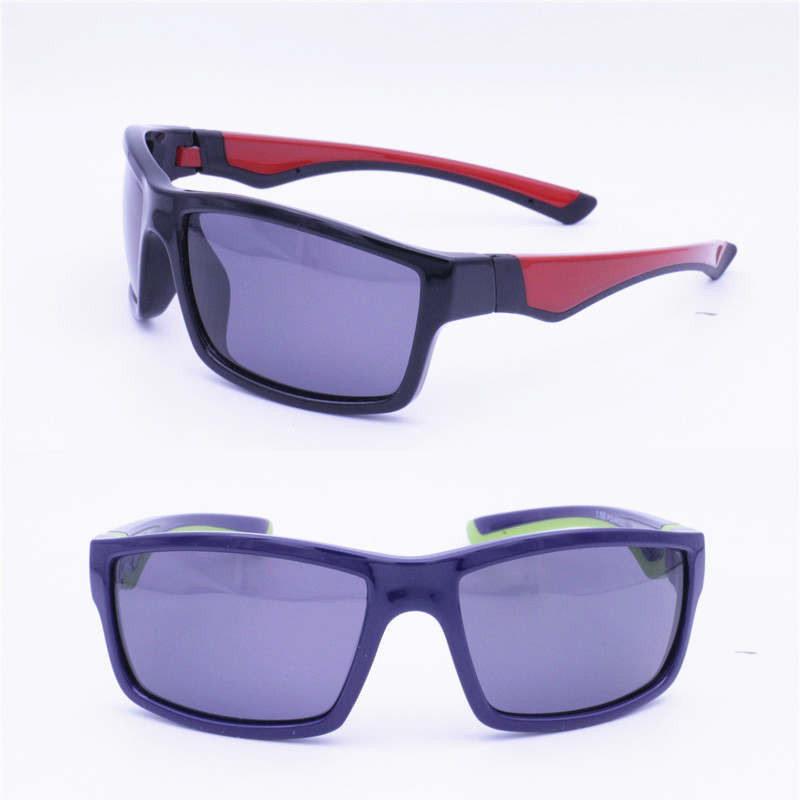 High classic 7024 soft and flexible TR90 polarized UV400 durable double colors traveling sunglasses for boys