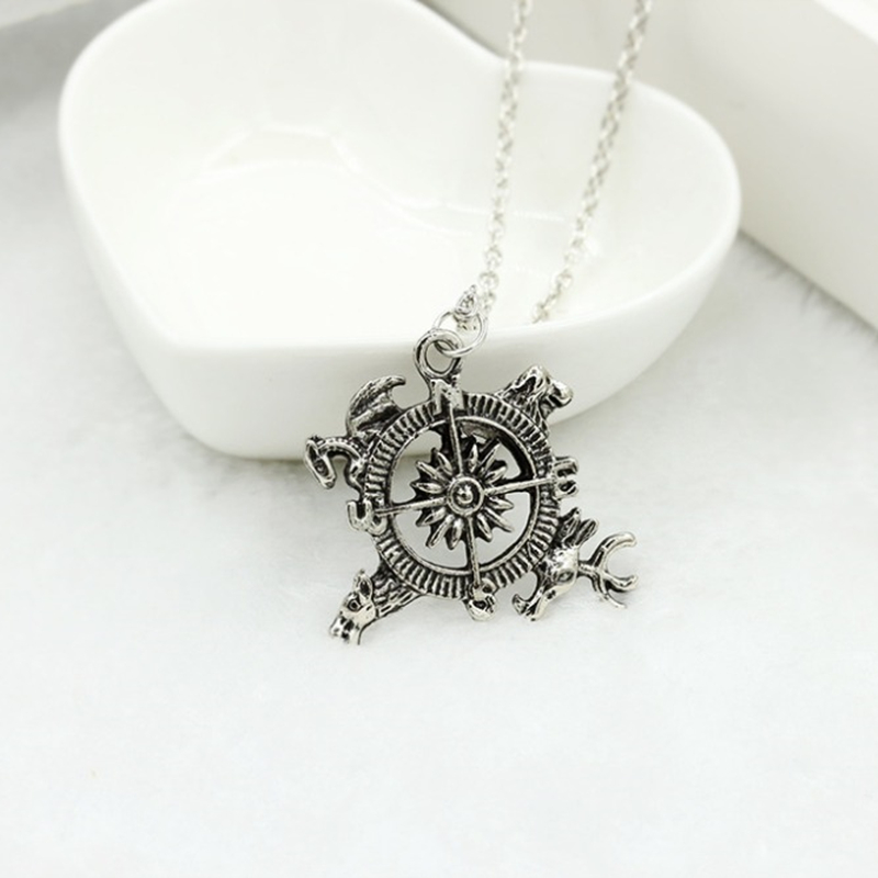 Ice and fire song power game power inspiration Tsui Park pendant necklace 4ND103
