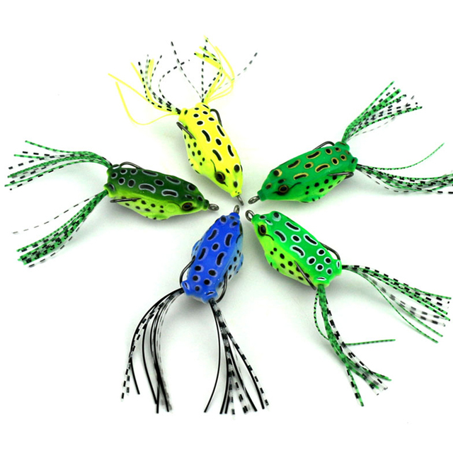 50pcs 5CM 84G Topwater Frog Body Soft Fishing Lures Crankbait Bass - frog body