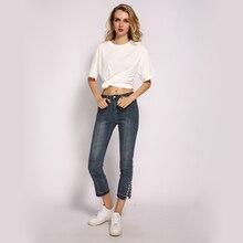 ME & SKI Новые джинсы с высокой талией и перламутровыми боковыми штанинами  открывающие джинсы скинн