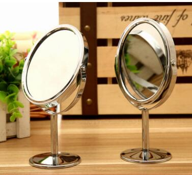 2pcs/lot Metal mirror espelho makeup mirror vanity mirror tabletop rotation 1:2 amplific ...