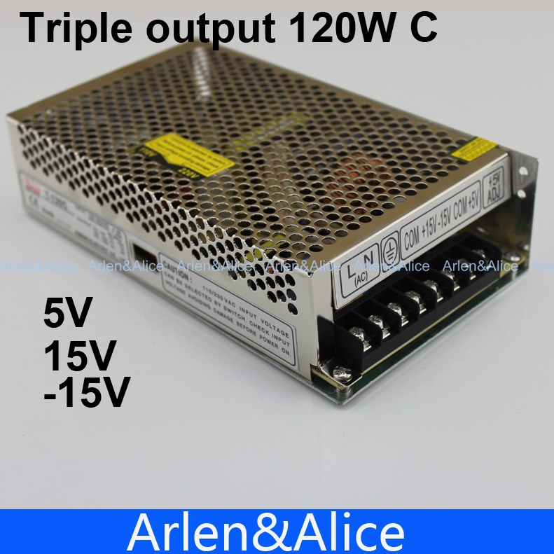 T 120W C Triple output <font><b>5V</b></font> 15V -15V Switching <font><b>power</b></font> <font><b>supply</b></font> smps AC to DC image