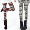 New Vestidos Women's Retro Knitted Snowflakes Warm Leggings Winter Pants Trouser