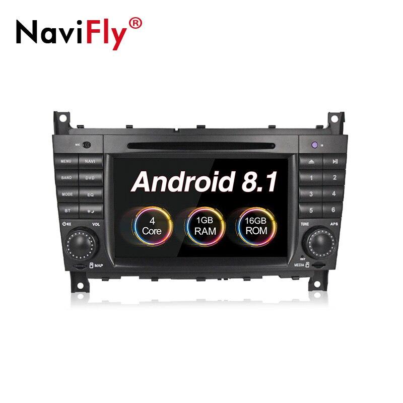 Android 8.1 voiture dvd lecteur multimédia radio pour Mercedes Benz Sprinter C classe W203 C200 Viano Vito CLK W209 GPS Navi BT RDS carte