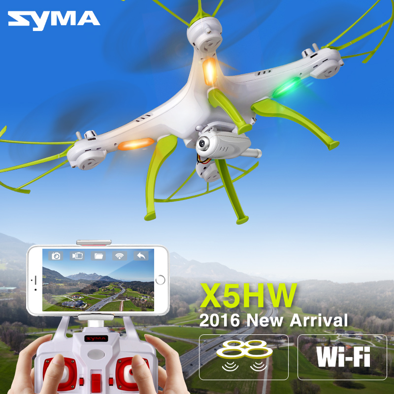 SYMA X5HW RC Drone With Camera Wifi FPV Transmission 4CH Quadcopter Remote Control Drones RC Helicopter Headless Mode Dron Toys f809 2 in 1 rc flying car 4wd 2 4g 4ch remote control drone with wifi camera rc quadcoter headless mode 360 degree vs x25 x9
