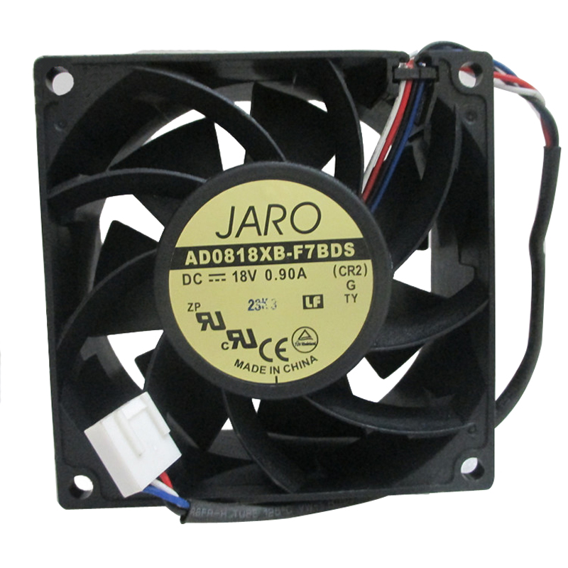 New DC 18V fan 80 80 25mm 18V 8025 2-wire 8cm barbecue stove fan DC cooling fan