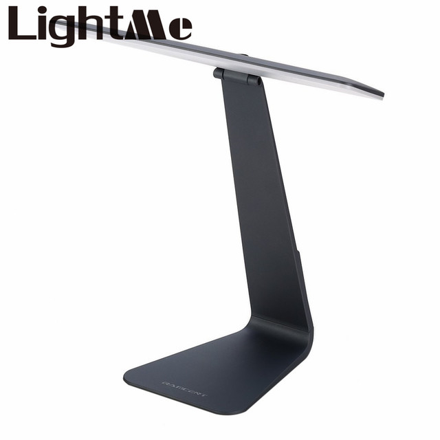 2016 Nueva Moda Ultra-delgado 3 Modo LED de Carga Lámpara de Escritorio de Protección Ojos Smart Touch Fashional Plegable Luz de La Noche luz de Estudio