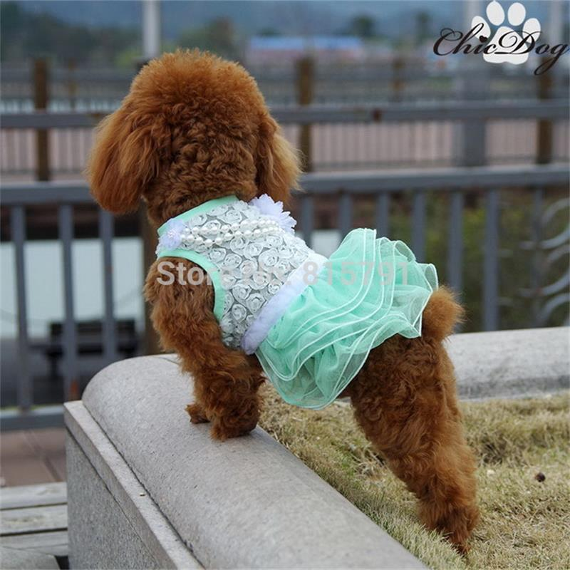 New design dog clothes wedding dresses girl chihuahua,yorkshire ...