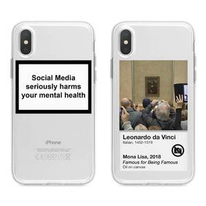 social media seriously harms your mental health Silicone cover phone case for iphone