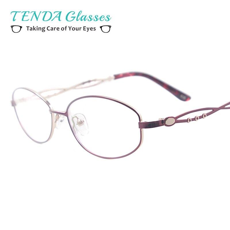 Bunte Brillengestell Frauen Medium Metall Oval Vollrand Brillen Für ...