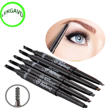 Waterproof  Eye Brow Eyeliner Eyebrow Pen Pencil With Brush Makeup Cosmetic Tool 5 Colors