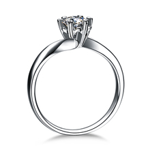 ZOCAI HEART PRONG 100% NATURAL REAL 0.3 CT CERTIFIED F-G/SI ROUND CUT 18K WHITE GOLD DIAMOND ENGAGEMENT RING W03338
