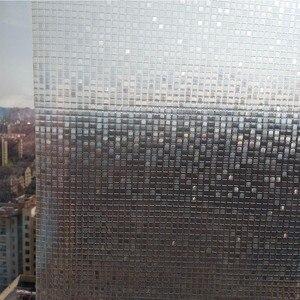 Image 3 - Film pour fenêtre givré en mosaïque, 60x200 cm, couleur arc en ciel, film pour verre statique opaque, feuille de transfert de chaleur en vinyle