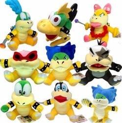 9 teile/satz Super Mario Koopalings Larry Iggy Lemmy Roy Ludwig Wendy Koopa Plüsch Weichen Spielzeug