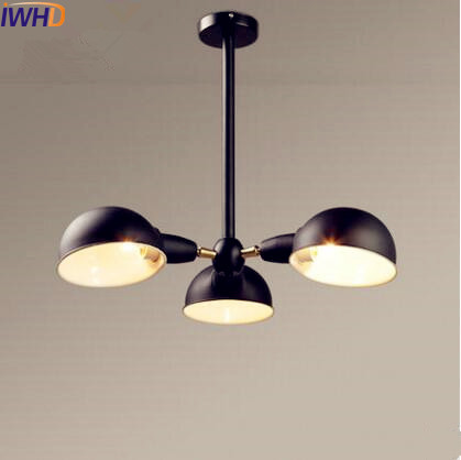 IWHD Nordic Style Industrial Pendant Lights Fixtures Living Room 3 Heads Retro Vintage Lamp Hanging Light Home Indoor Lighting nordic resin retro loft style industrial lighting vintage pendant lamp fixtures dinning room led hanging light lamparas