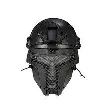 Открытый страйкбол шлем сетка Airsoftsports мотоциклетный шлем полный маска для лица армейский веер