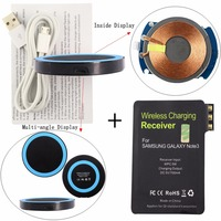 Qi Wireless Charger Pad Wireless Charging Receiver Tag Wireless Charge Stick For Samsung Galaxy Note 3