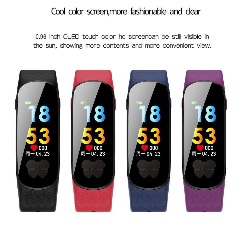 B37 montre intelligente couleur écran étanche ECG + PPG moniteur de fréquence cardiaque SportTracker Bluetooth Bracelet Bracelet pour IOS Android hommes - 5
