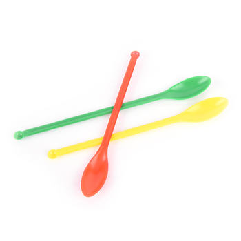 3pcs Length 150mm Plastic Spoon,Medicinal ladle with Spatula, Laboratory Supplies image