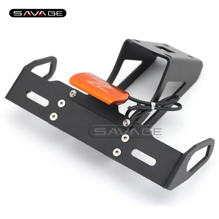 For KAWASAKI Z1000 Z1000SX NINJA 1000 Orange Motorcycle Tail Tidy Fender Eliminator Registration License Plate Holder LED Light for kawasaki zx6r zx 6r ninja 2007 2008 motorcycle tail tidy fender eliminator registration license plate holder led light
