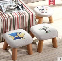 Small stool real wood exchange shoes stool tea table cloth art fashion. цена