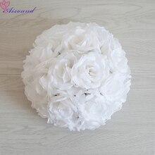 1 adet tam çiçek topu yapay ipek gül düğün Centerpieces öpüşme Pomanders evlilik parti yeni yıl dekor Flori