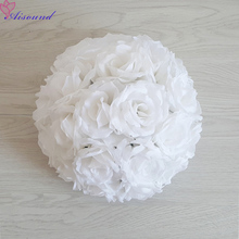 1PC Full Flower Ball Artificial Silk Rose Wedding Centerpieces Kissing Pomanders Marriage Party  New Year's Decor Flori