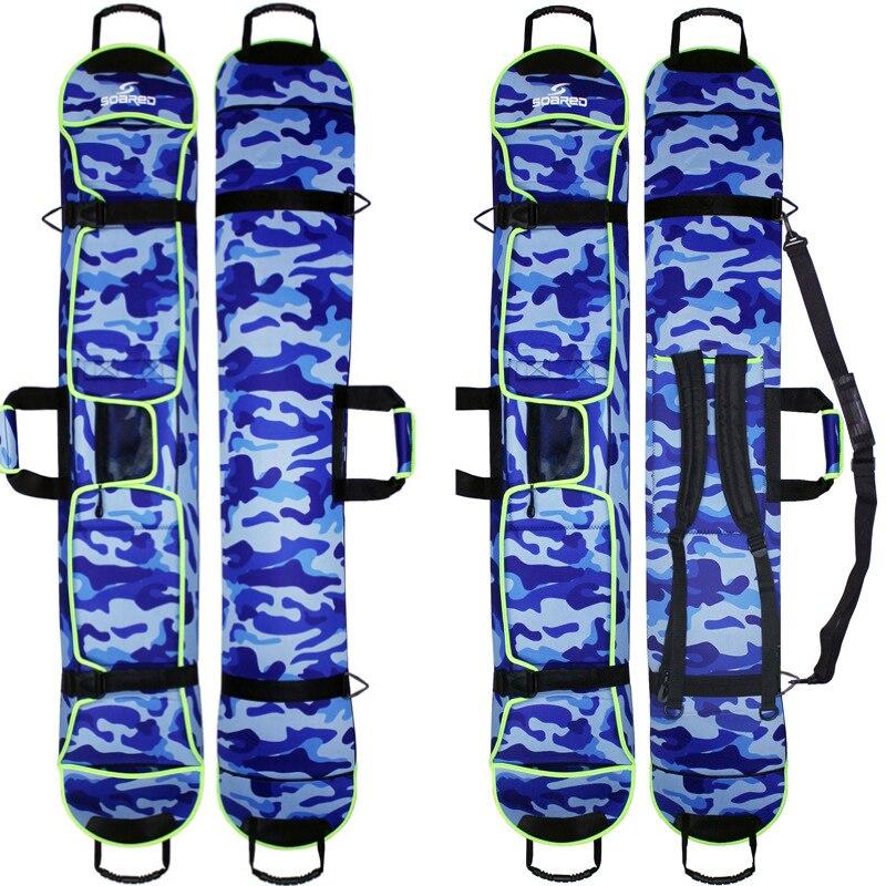 145-155 cm Ski Snowboard Sacs Matériau en Tissu de Plongée Ski Planche De Snowboard Résistant aux Rayures Monoboard Plaque De Protection cas