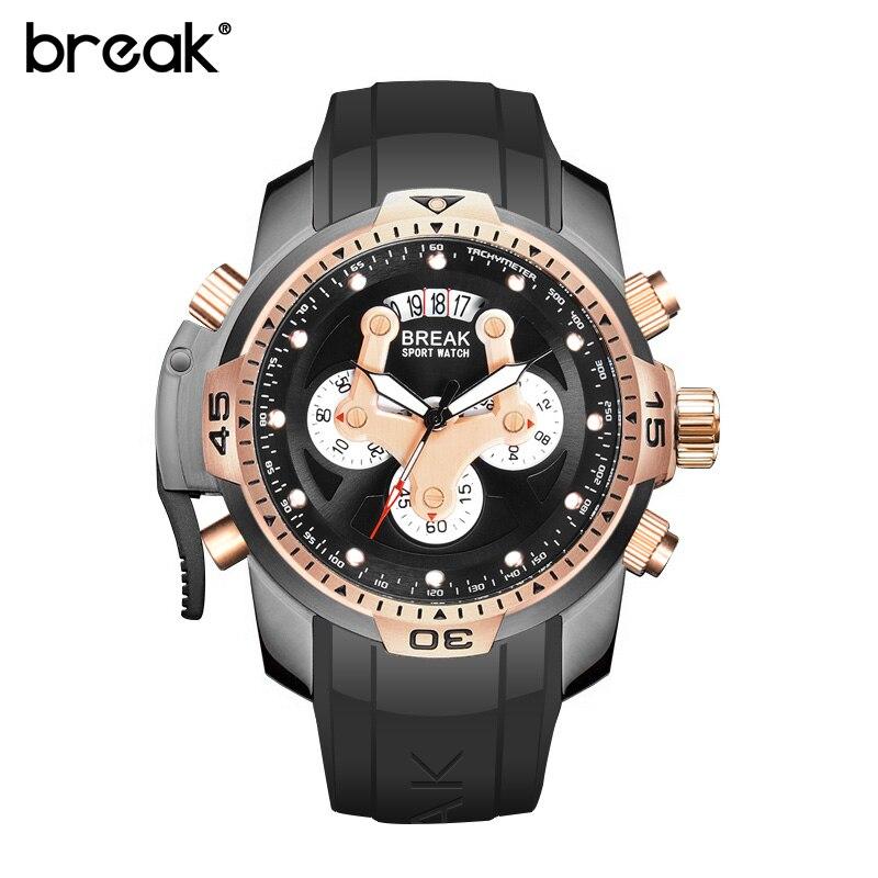 Top marque de luxe multifonction étanche sport montres horloge hommes montre à Quartz homme militaire montre-bracelet Relogio Masculino