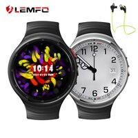 תמיכת טלפון שעון חכם אנדרואיד 5.1 OS 2.0MP LES1 LEMFO HD מצלמה לפקח על קצב לב GPS WIFI 3 גרם Reloj Inteligente אנדרואיד