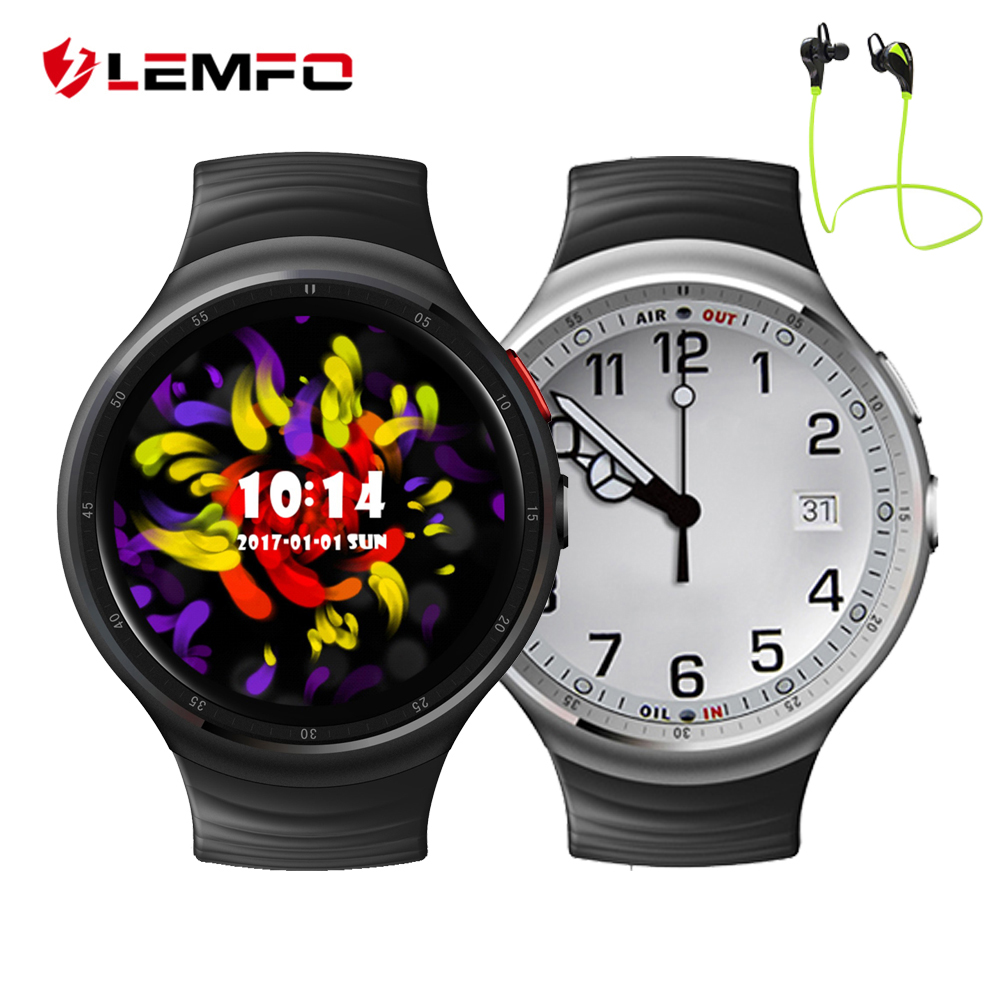 LEMFO LES1 Android 5 1 OS Smart Watch Phone Support 2 0MP HD Camera Heart Rate