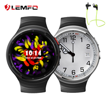 LEMFO LES1 Android 5.1 OS Smart Watch Phone Unterstützung 2.0MP HD Kamera Herzfrequenzmesser GPS WIFI 3G Reloj Inteligente Android