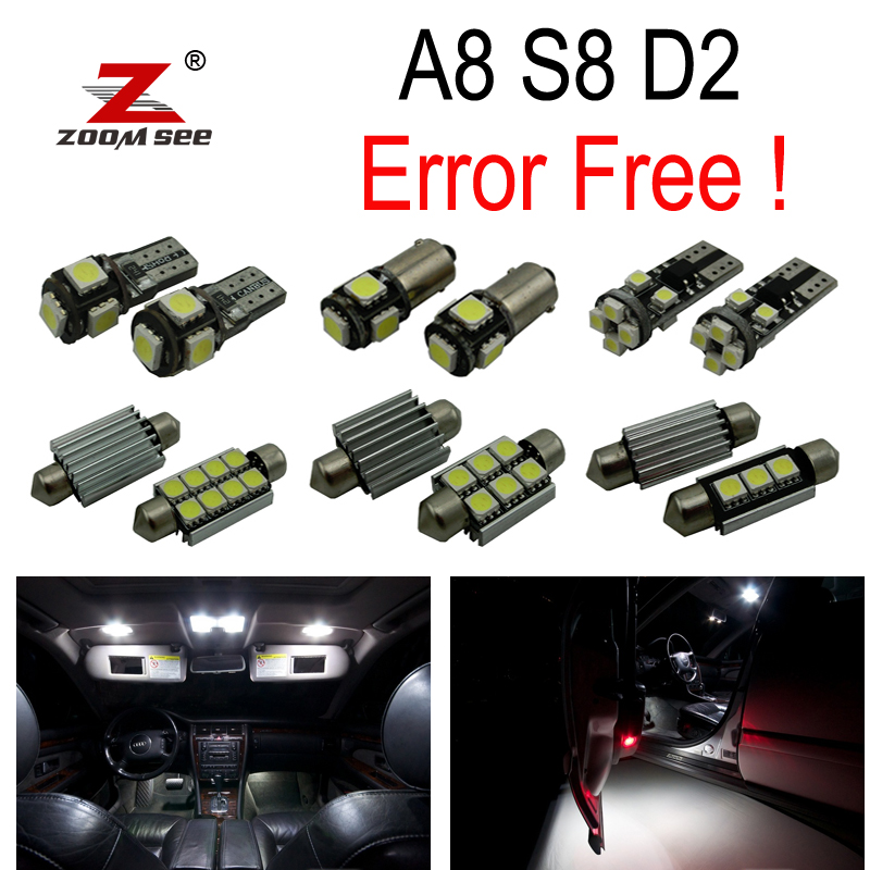 29pc x 100% canbus No Error for 1997-2002 Audi A8 S8 D2 LED lamp Interior Dome Reading Light Kit Package 18pc canbus error free reading led bulb interior dome light kit package for audi a7 s7 rs7 sportback 2012