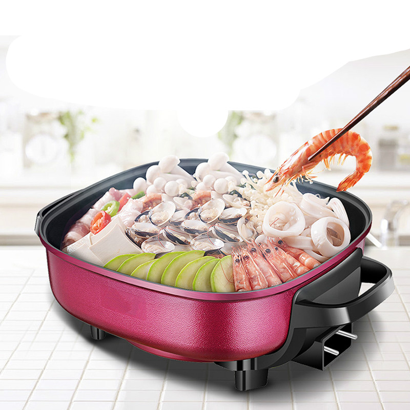 Hot Plates Electric hotpot multifunctional household non-stick flat electric frying pan FriedHot Plates Electric hotpot multifunctional household non-stick flat electric frying pan Fried