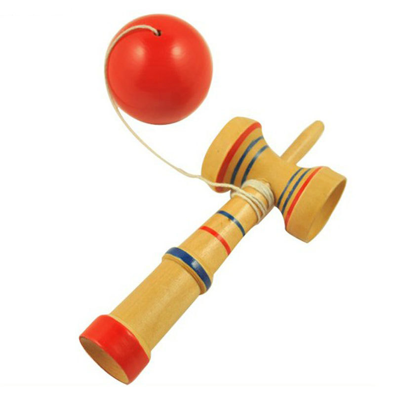 Japanese Toys And Games : Kid kendama ball japanese traditional wood game balance