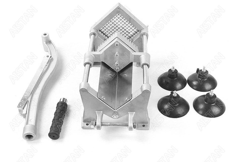 ST1 commerical manual aluminum die-casting potato chipper cutter potato chips cutting machine 16