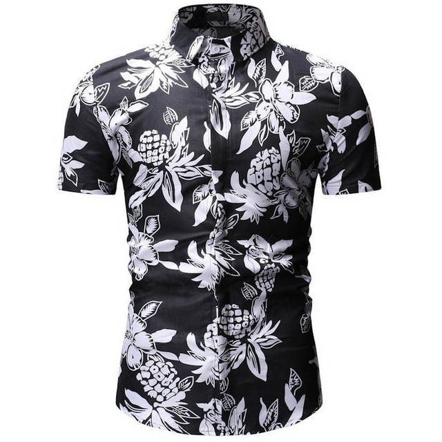 5c7c136e Mens Summer Beach Hawaiian Shirt 2019 Brand Short Sleeve Plus Size Floral Shirts  Men Casual Clothing Camisas 26 color