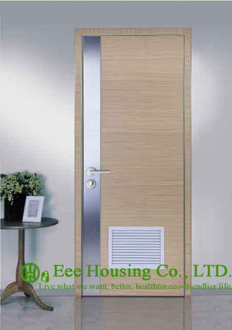 Aluminum Frame Interior Restaurant Door With Water Resistance & Sound Proof ,Simple Style Aluminium Room Door Manufacture China