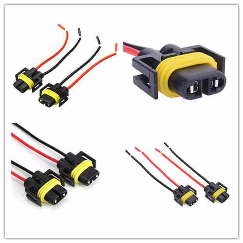 2 Pcs H8 H9 H11 Universal Lampu Mobil Lampu Bohlam Adaptor Lampu Kabut Mobil Auto LED Lampu Wiring Harness Adaptor Soket plug