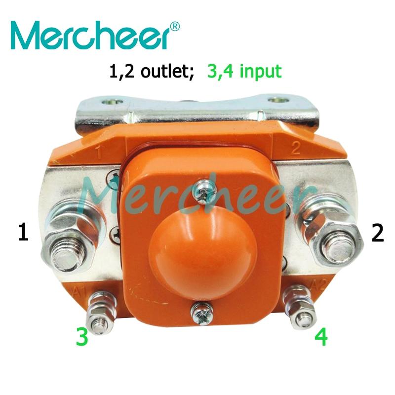NO normally open 12V 24V 36V 48V 60V 72V 400A DC Contactor for motor forklift electromobile