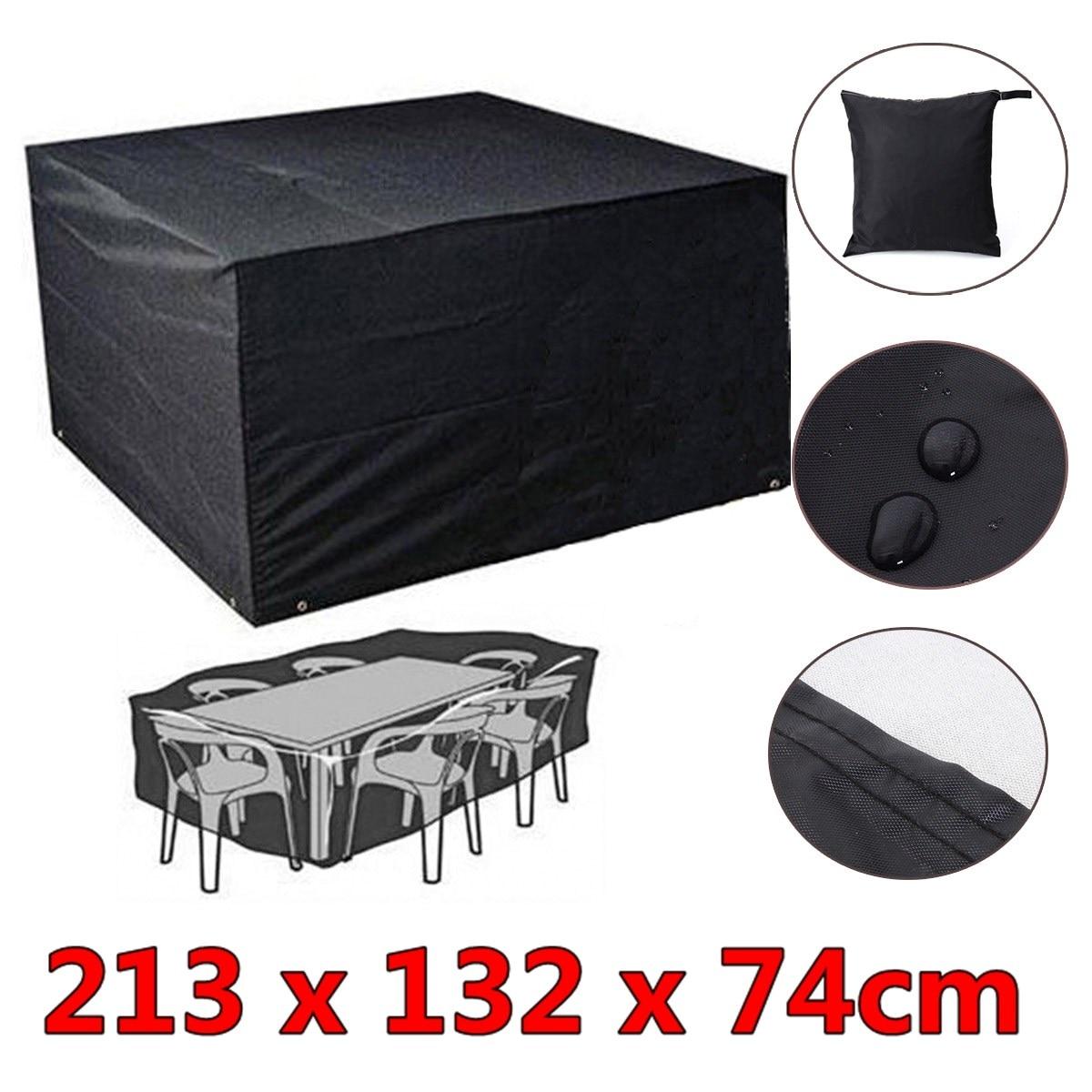 6 Seater Furniture Rain Cover Waterproof Outdoor Patio Garden Rectangular Table
