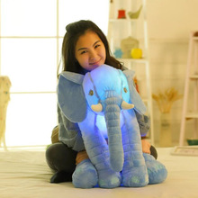 Stuffed Elephant Toy Glowing Music 60cm For Baby Pillow Japanese Plush Animals Kawaii Sofa Bed
