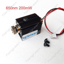 650nm Red Laser Module mini engraving machine adjustable cnc parts 200mw with holder heat sink